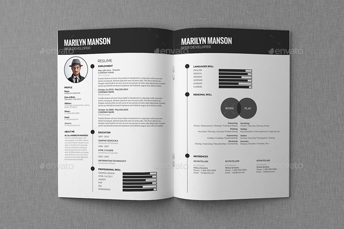 Fre Cv Template Template Business  MediareadyincCom