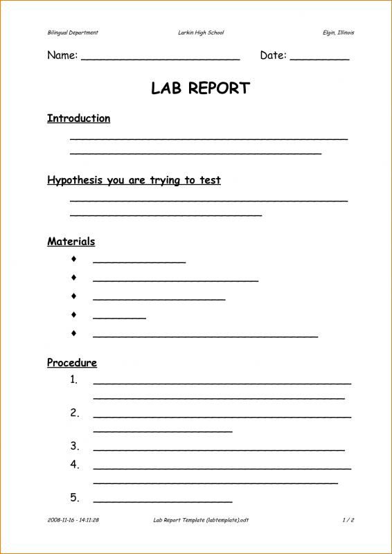 Report introduction template