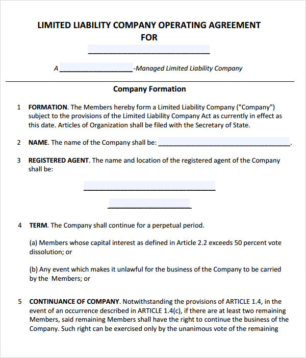 LLC Operating Agreement Template US  LegalContracts