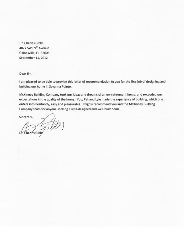 professional reference letter for a job