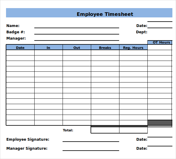 Monthly Timesheet Template U2013 15+ Download Free Documents U2026