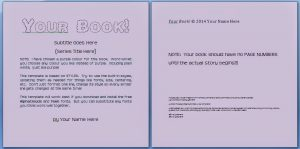 children's book template freetemplate