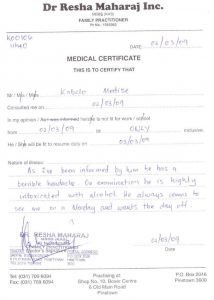 how to forge a doctor's note