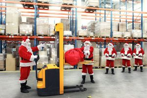 page marketing plan santa in warehouse