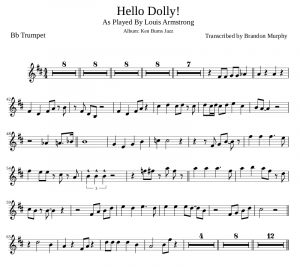 page resume louis armstrong hello dolly