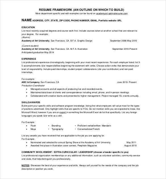 resume templates pages 1 page resume template template business 24470