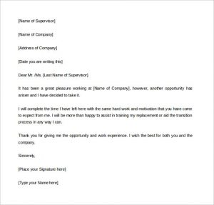 week notice letter template professional two weeks notice letter template download