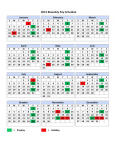 biweekly payroll calendar template biweekly pay schedule l