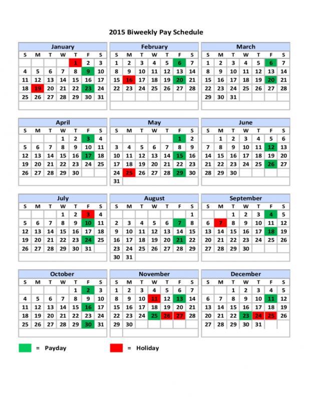 2017 biweekly payroll calendar template