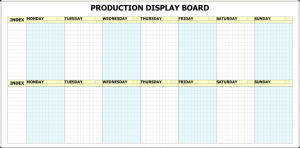 hour day planner printed whiteboard production planner full