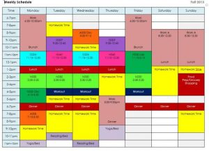 hour day planner weekly schedule w