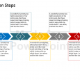 day action plans arrow steps diagram powerpoint presentation