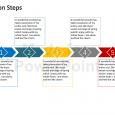 day action plans arrow steps diagram powerpoint presentation