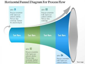 day sales plan horizontal funnel diagram for process flow powerpoint template slide