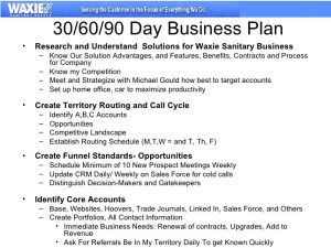 day sales plan template business plan