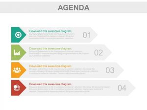 plan templates four tags for business agenda representation powerpoint slides slide