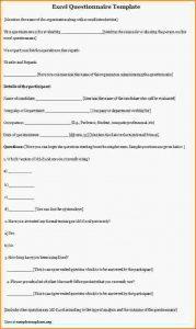 sales plan excel survey template excel questionnaire template
