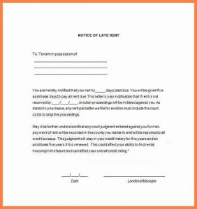 day eviction notice form sample late payment notice late rent payment letter