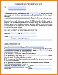 day notice letter to landlord day eviction notice form