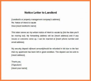 day notice template examples of written notice example days notice letter to landlord