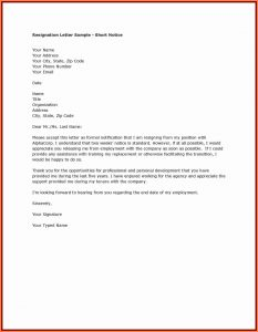 day notice template resignation letter samples month notice example of a resignation letter one month notice resignation letter samples a