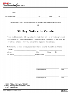 day notice to landlord california template day eviction notice template