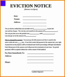 day notice to landlord california template eviction notice form printable eviction notice form
