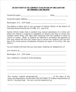 day notice to landlord pdf landlord obligation day notice