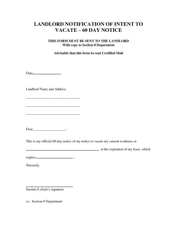 30 day notice to move