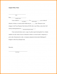 day notice to vacate template day notice to vacate letter sample