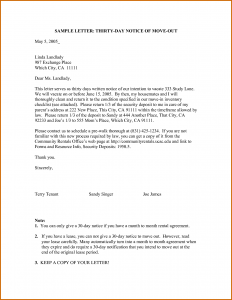 day notice to vacate template how to write a notice letter example