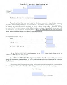 days notice letter maryland eviction notice form in baltimore x