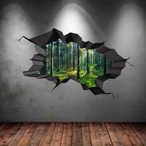 d wall art cracked woods
