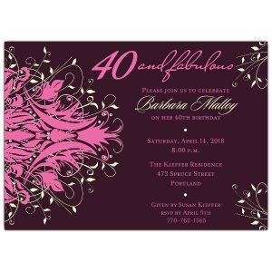 th bday invitation p z