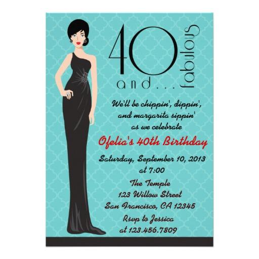 40th bday invitation