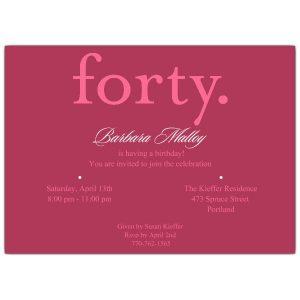 th bday invitation forty pink th birthday invitations p p z