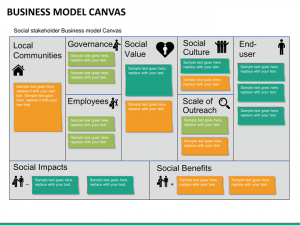 year plan template business canvas mc slide