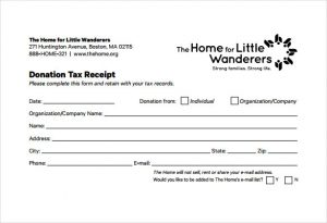 c tax deductible donation letter free donation tax receipt pdf template download