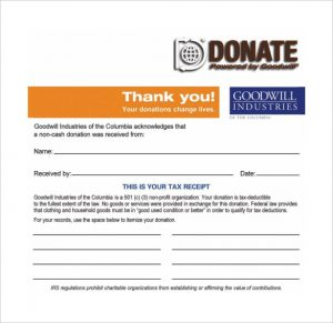 c tax deductible donation letter goodwill donation receipt pdf template free download