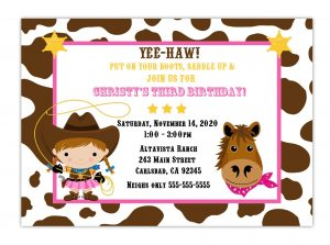 th birthday invitation template cowgirl birthday party invitations to make new style of alluring birthday invitation card