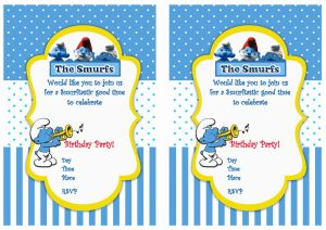 th birthday invitation template smurfs birthday invitations – birthday printable