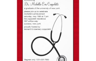 x envelope template stethoscope with red border medical graduation inv invitation rcebaccefd imtzy byvr