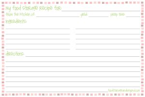 x postcard template recipe card template ttnejm