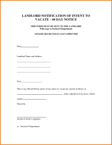 day notice to vacate template intent to vacate letter day notice to vacate letter anuvrat for day notice to vacate template