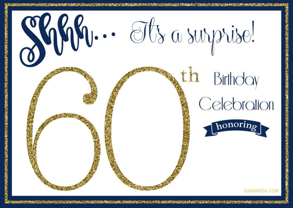 60 th birthday invitation