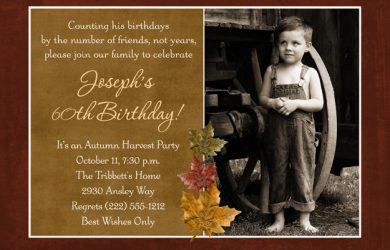 th birthday invites fall leaves photo birthday invitation th man
