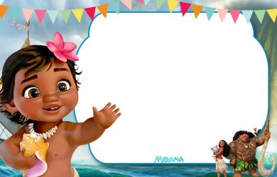 th bday party invitations free printable little moana st birthday invitation