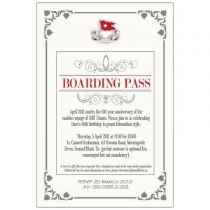 th bday party invitations invitation dave titanic theme