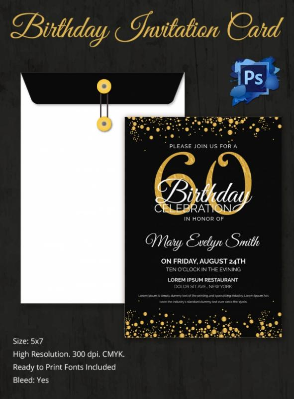 60th birtday invitations