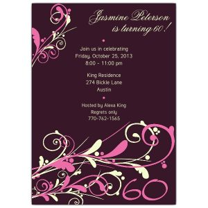 th birthday invitation camia plum th birthday invitations p p z